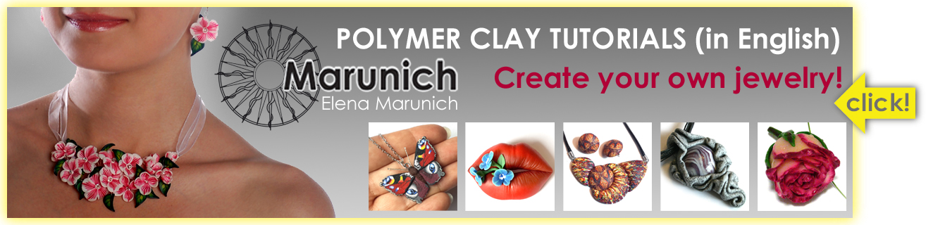 polymer clay, polymer clay cane, polymer clay jewelry, marunich, DIY jewelry, polymer clay cane, pendant, earring, brooch, necklace, jewelry tutoril, tutorials