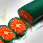 полимерная глина мастер-класс , полимерная глина мастер-класс для начинающих, полимерная глина  урок для начинающих, цветочная трость, Миллефиори, Millefiori,  полимерная глина Миллефиори