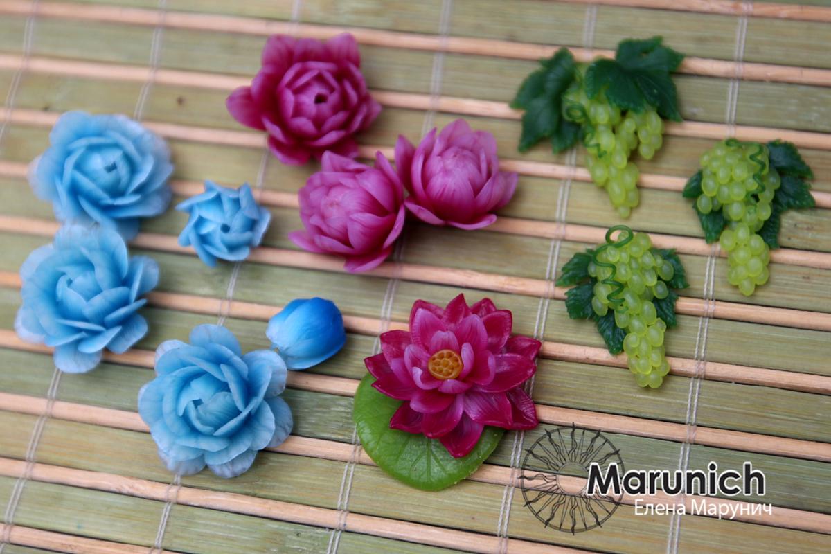Цветы полимерная глина своими рукам 267